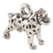Dalmatian Puppy 3D Sterling Silver Charms